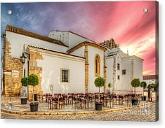 Cathedral Cafe Acrylic Print by English Landscapes