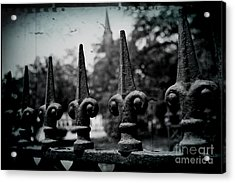 Cathedral Fence Acrylic Print by Scott Pellegrin