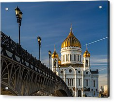 Cathedral Of Christ The Savior In Moscow - Featured 3 Acrylic Print by Alexander Senin
