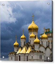 Cathedral Of The Annunciation Of Moscow Kremlin - Square Acrylic Print by Alexander Senin