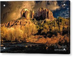 Cathedral Rock Before The Rains Came Acrylic Print by Jon Burch Photography