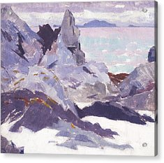 Cathedral Rock  Iona Acrylic Print by Francis Campbell Boileau Cadell