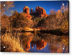 Cathedral Rock Acrylic Print by Tom Weisbrook