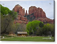 Cathedral Rock V Acrylic Print by Dave Gordon