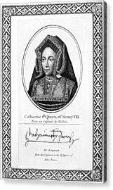 Catherine Of Aragon (1485-1536) Acrylic Print by Granger