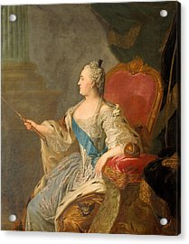 Catherine The Great, 1763 Oil On Canvas Acrylic Print by Fedor Stepanovich Rokotov