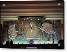 Catholic Chapel At Air Force Academy Acrylic Print by Paulette B Wright