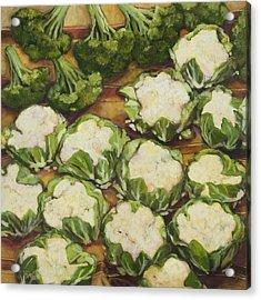 Cauliflower March Acrylic Print by Jen Norton