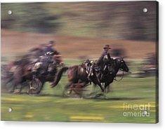 Cavalry Battle At A Civil War Acrylic Print by Ron Sanford