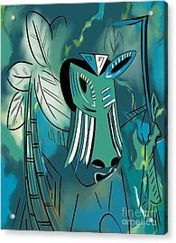 Cavamoru Acrylic Print by Barbara Drake