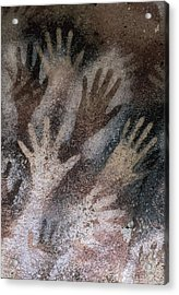 Cave Of The Hands. Argentina. Santa Acrylic Print by Everett