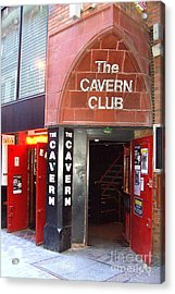Cavern Club Entrance Mathew Street Liverpool Uk Acrylic Print by Steve Kearns