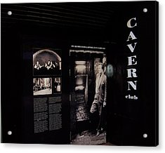 Cavern Club Original Doorway Liverpool Uk Acrylic Print by Steve Kearns