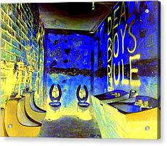 Cbgb's Notorious Mens Room Acrylic Print by Ed Weidman