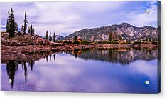 Cecret Reflection Acrylic Print by Chad Dutson