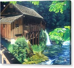 Cedar Creek Grist Mill Acrylic Print by Cireena Katto