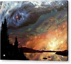 Celestial Northwest Acrylic Print by Lucy West