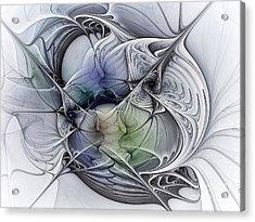 Celestial Sphere Abstract Art Acrylic Print by Karin Kuhlmann