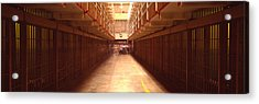 Cell Block In A Prison, Alcatraz Acrylic Print by Panoramic Images