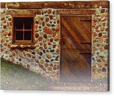 Cellar Door In The Mist Acrylic Print by Jack Zulli