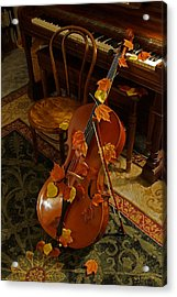 Cello Autumn 1 Acrylic Print by Mick Anderson