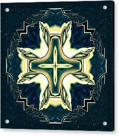 Celtic Cross Abstract Acrylic Print by Georgiana Romanovna