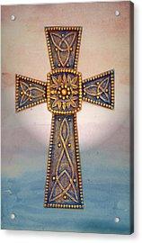 Celtic Cross Sunrise Acrylic Print by Sandi OReilly