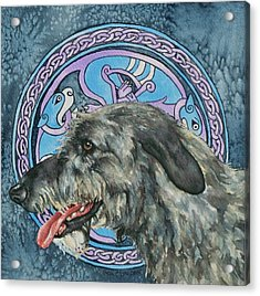 Celtic Hound Acrylic Print by Beth Clark-McDonal