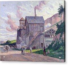 Cement Factory At Vermenton Acrylic Print by Miximilien Luce