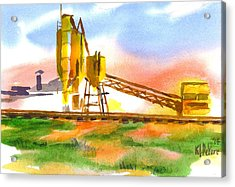 Cement Plant Across The Tracks Acrylic Print by Kip DeVore