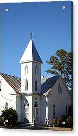 Center Hill United Methodist Church Acrylic Print by Carolyn Ricks