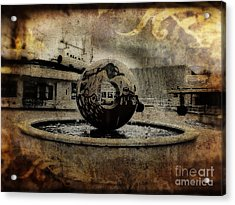 Center Of The World Acrylic Print by Doc Braham