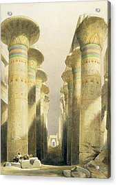 Central Avenue Of The Great Hall Of Columns Acrylic Print by David Roberts
