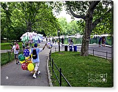 Central Park Balloon Man Acrylic Print by Madeline Ellis