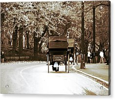 Central Park Ride Acrylic Print by John Rizzuto