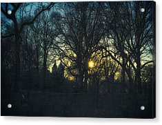 Central Park Vintage Sunset Acrylic Print by Marianne Campolongo