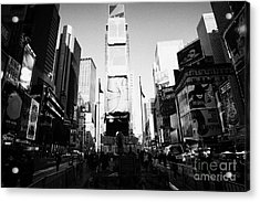 Centre Of Times Square In Daytime New York City Acrylic Print by Joe Fox