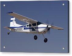 Cessna A185f N859dl Casa Grande March 3 2012 Acrylic Print by Brian Lockett