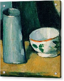 Cezanne Bowl And Milk Jug Acrylic Print by Granger