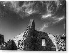 Chaco Canyon Pueblo Bonito Monochrome Acrylic Print by Bob Christopher