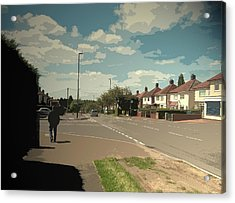 Chaddesden Park Road In Derby, Suburban Scene Pictured Here Acrylic Print by Litz Collection