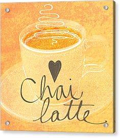 Chai Latte Love Acrylic Print by Linda Woods