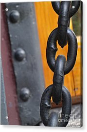 Chain And Rivets Acrylic Print by Lyric Lucas