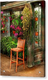 Chair - The Chair Acrylic Print by Mike Savad