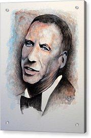 Chairman Of The Board - Sinatra Acrylic Print by William Walts