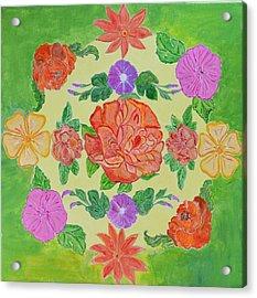 Chaitra Mandala Acrylic Print by Sonali Gangane