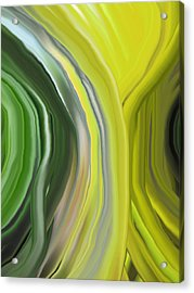 Chakra-green Acrylic Print by Linnea Tober