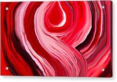 Chakra-red Acrylic Print by Linnea Tober