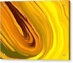 Chakra_yellow Acrylic Print by Linnea Tober