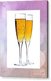 Champagne In Glasses Acrylic Print by Elena Elisseeva